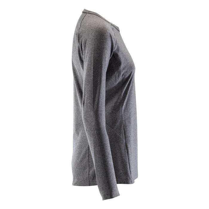 Klettershirt langarm Komfort Damen blau/grau