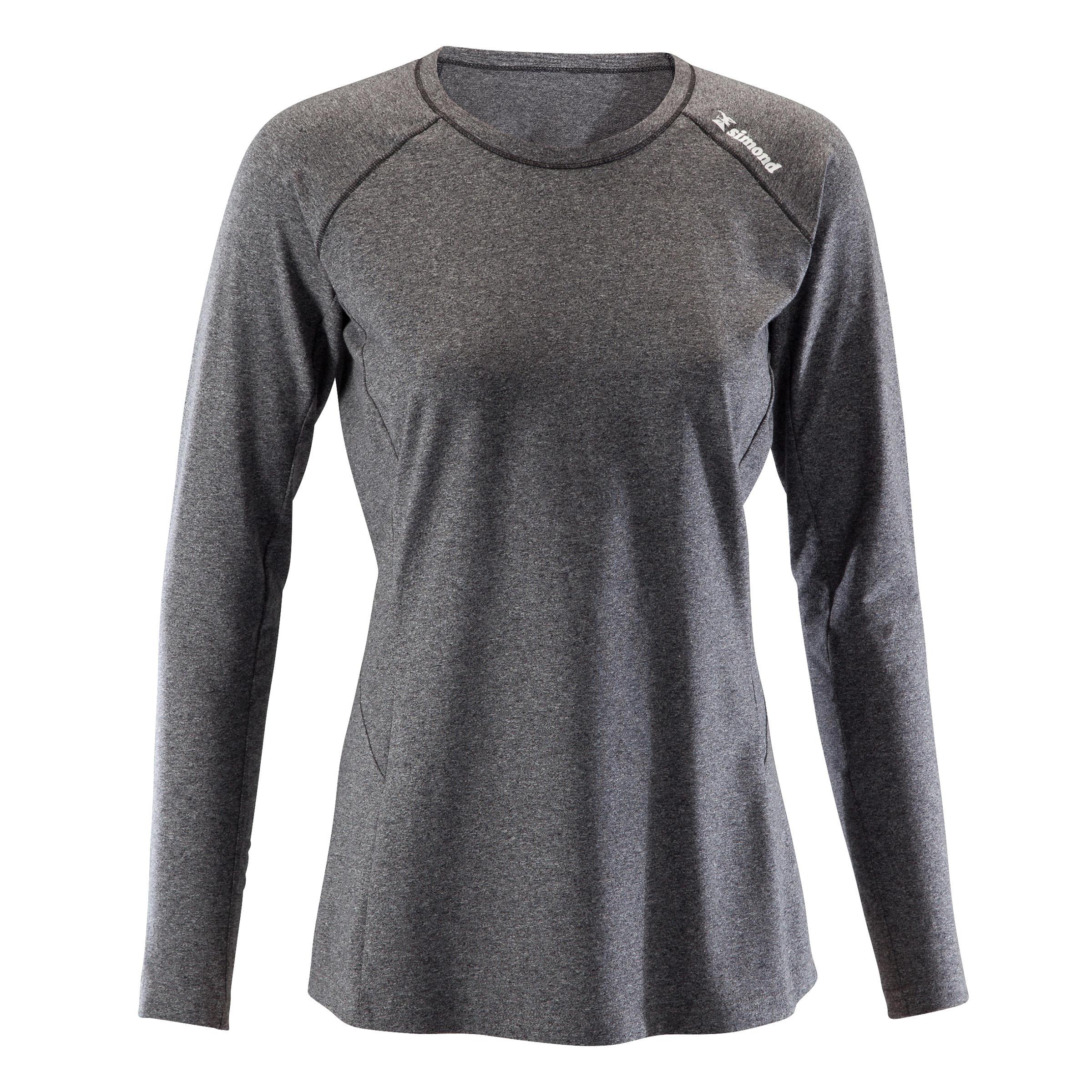 Klettershirt langarm Stretch Damen blaugrau | Sportbekleidung > Sportshirts | Simond