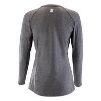 WOMEN'S LONG-SLEEVED STRETCH CLIMBING T-SHIRT - COLOUR BLUE GREY