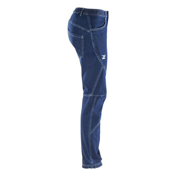 Klimjeans voor dames stretch cosmosblauw