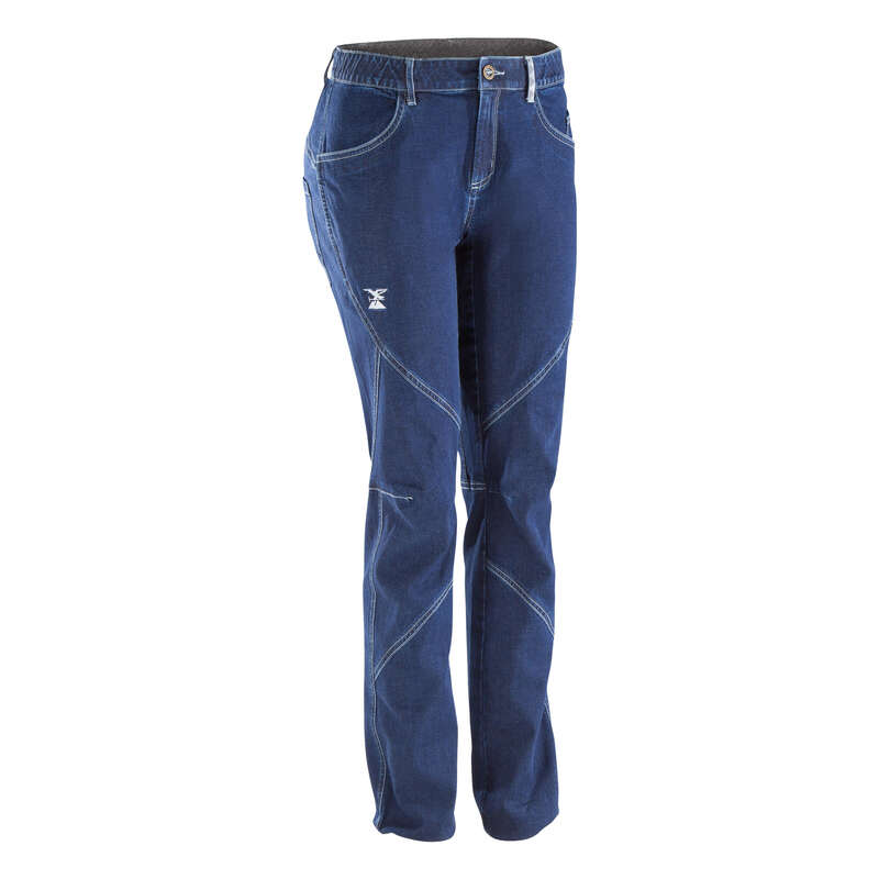 CLIMBING CLOTHING Climbing - WOMEN'S STRETCH JEANS BLUE SIMOND - Climbing