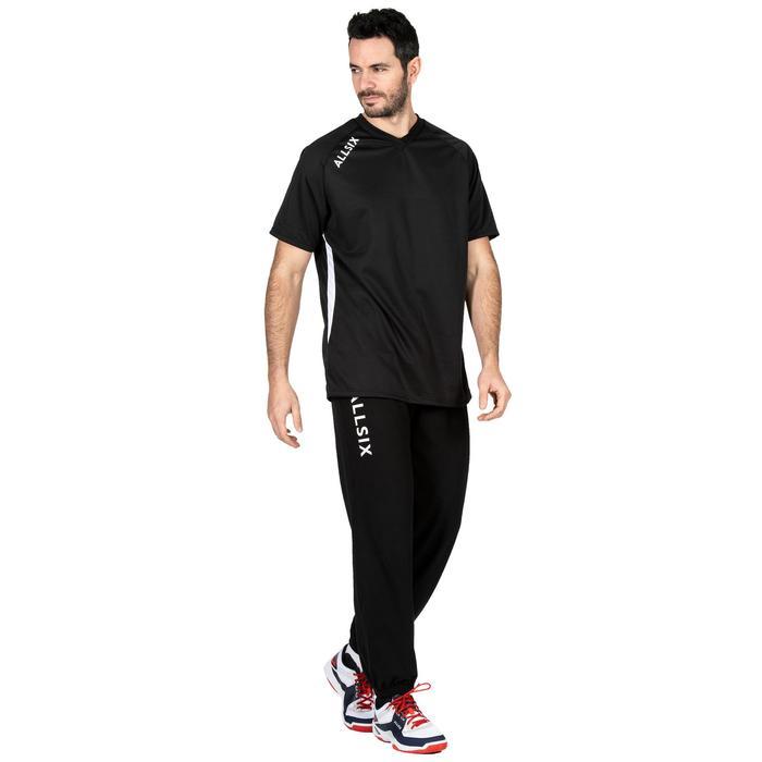 Trainingshose V100 lang Volleyball Erwachsene schwarz/weiß
