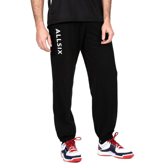 Pantalón de voleibol V100 adulto negro blanco ALLSIX