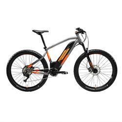 """Bicicleta Eléctrica de Montaña ROCKRIDER e-ST 900 27,5"""" GRIS naranja"""