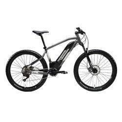 Bicicleta eléctrica mtb Rockrider e-ST 900 gris