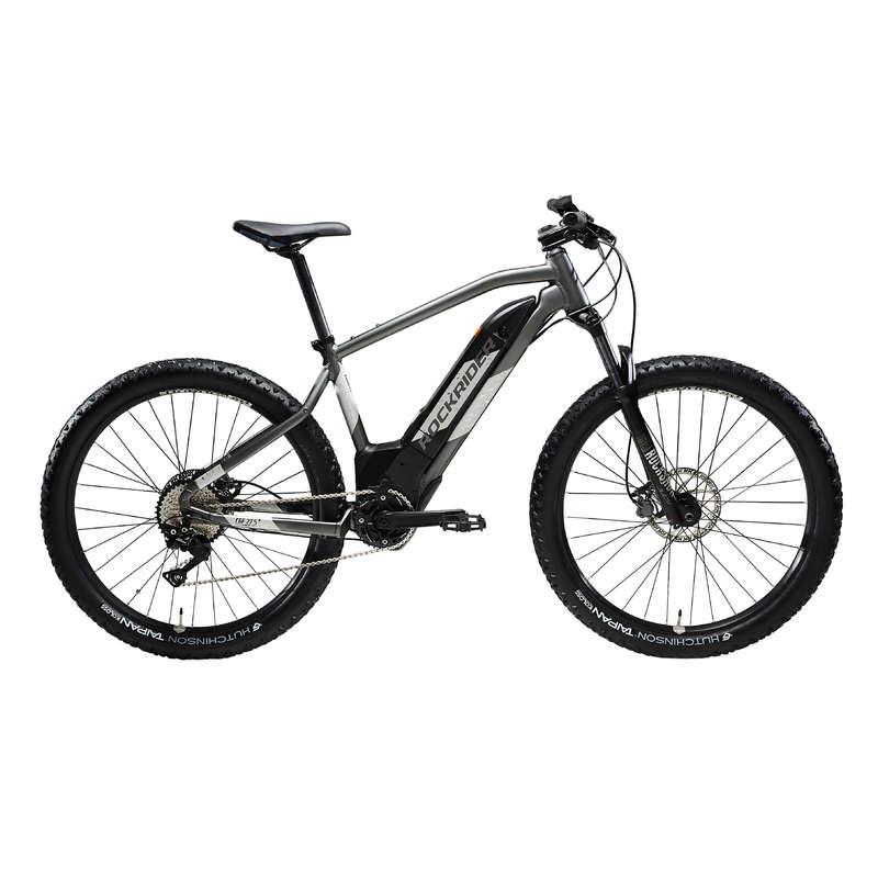 MEN SPORT TRAIL MTB ELECTRIC BIKE Cycling - E-ST 900 ELECTRIC MOUNTAIN BIKE, GREY - 27.5+ ROCKRIDER - Bikes