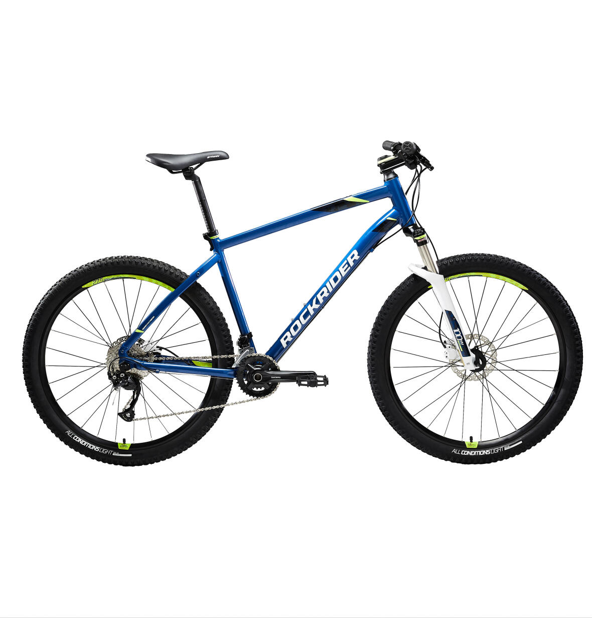 ROCKRIDER ST 540 MOUNTAIN BIKE BLUE YELLOW
