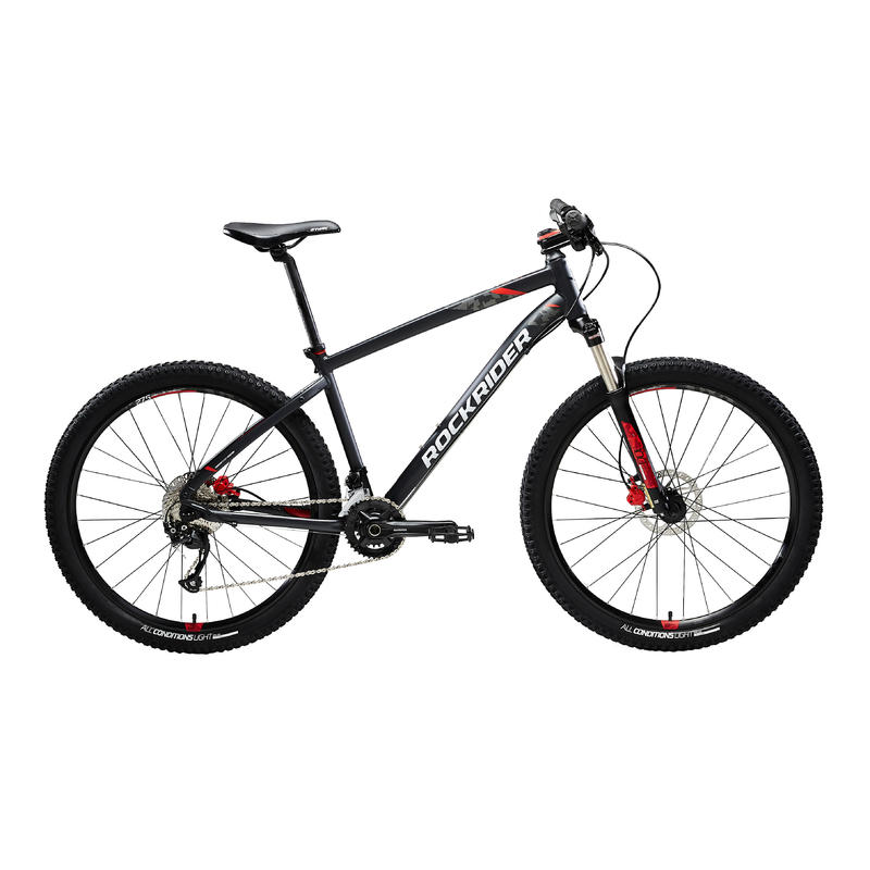 ST 540 Mountain Bike, Grey/Red - 27.5""