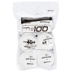 TTB 100* 40+ 桌球 1包6入 - 白色