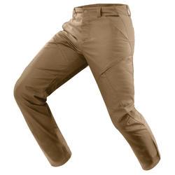 Pantalón senderismo naturaleza H500 regular beige hombre