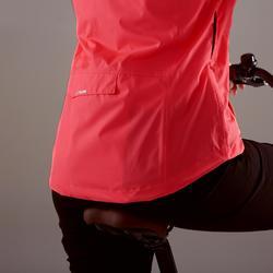 Fahrrad-Regenjacke City 100 Damen rosa