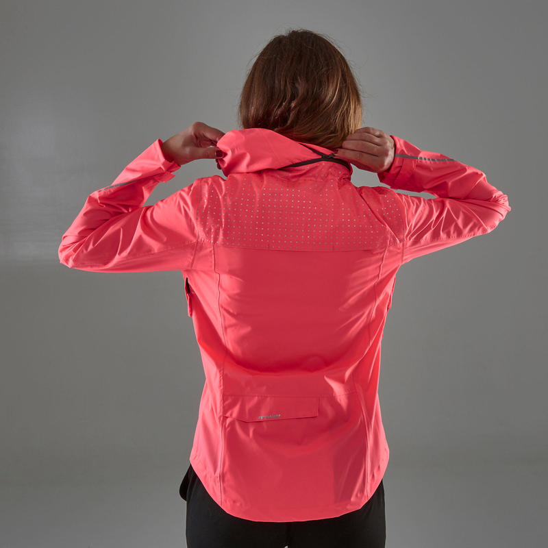 100 Women's Waterproof City Cycling Jacket - Pink