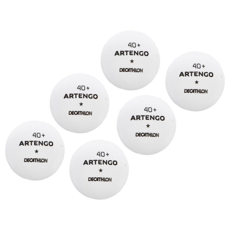 TTB 100 1* 4+ Table Tennis Balls 6-Pack - White