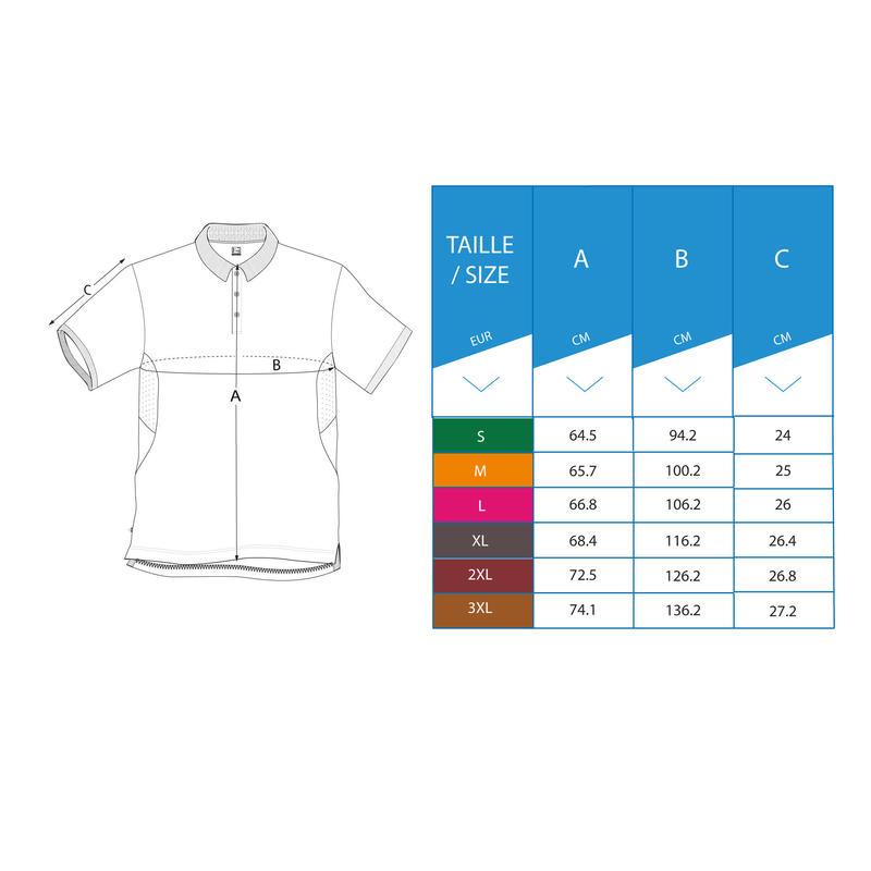 เสื้อโปโลผู้ชายสำหรับใส่ตีกอล์ฟในสภาพอากาศร้อน (สีขาว)