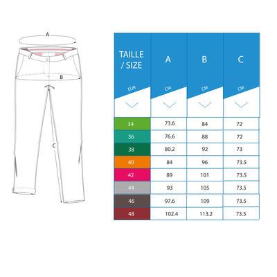 Pantalón Golf Mujer Burdeos