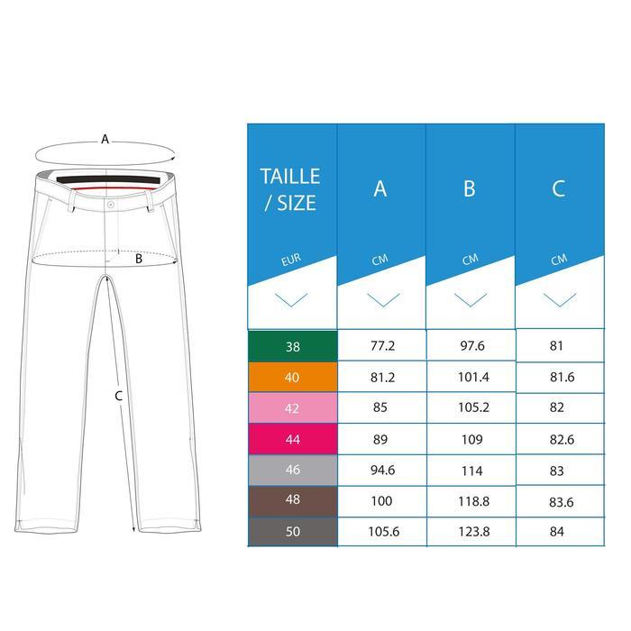 Golfbroek voor heren warm weer grijs