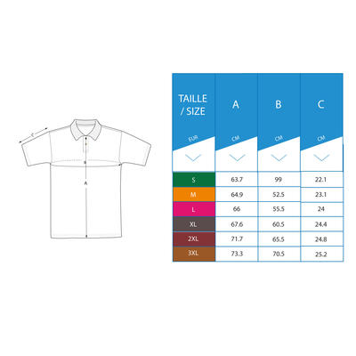 MEN'S GOLF POLO SHIRT DARK PETROL