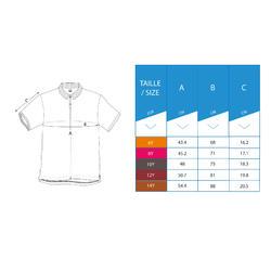 Kids Breathable Polo Shirt Blue
