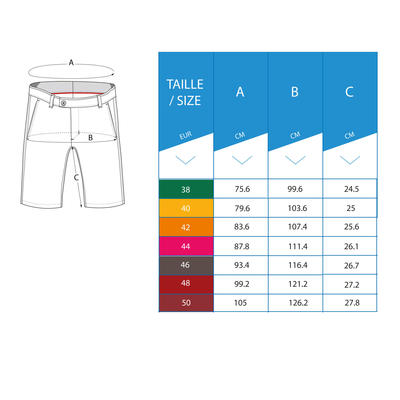 Men's Golf Breathable Bermuda Shorts - Red