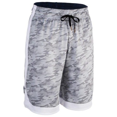 Short de basketball réversible LL - Homme Bleu chine/gris