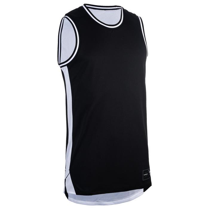 雙面籃球背心,適合中階籃球員-黑色/白色