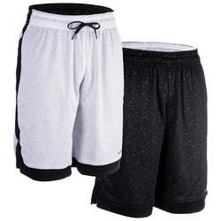 Pantalón Reversible Baloncesto Tarmak SH500R Blanco Negro
