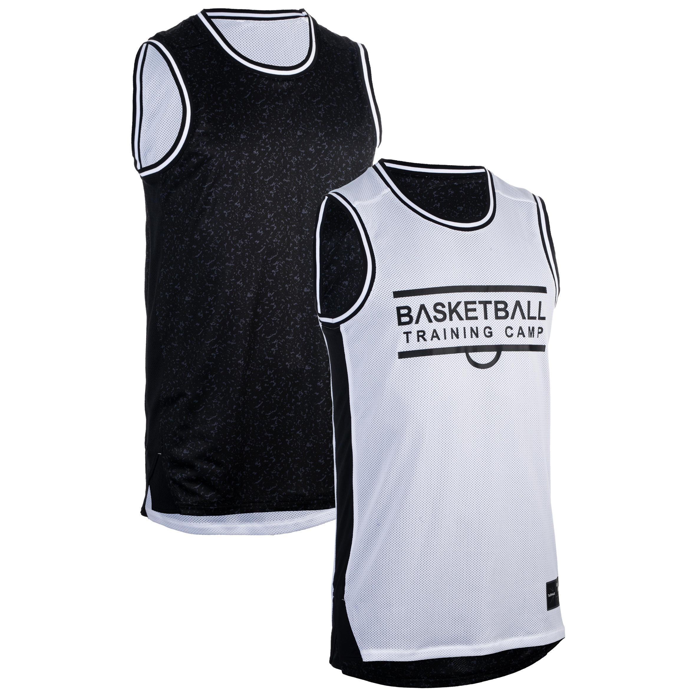 Basketballtrikot ärmellos wendbar Herren Fortgeschrittene | Sportbekleidung > Trikots > Basketballtrikots | Schwarz - Weiß | Tarmak