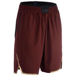 進階籃球短褲SH900-酒紅色