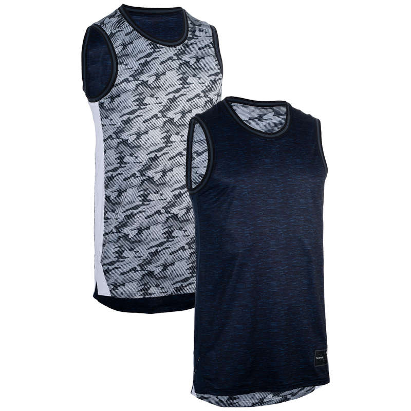 MAN BASKETBALL OUTFIT Basketball - Men's Reversible Tank T500R TARMAK - Basketball