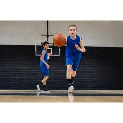 Basketballshorts SH100 Kinder Jungen/Mädchen Einsteiger blau
