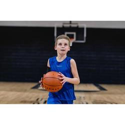 Basketballtrikot T100 Kinder Jungen/Mädchen Einsteiger blau
