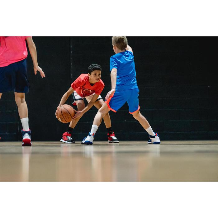 Basketbalshirt voor gevorderde jongens/meisjes rood BBL driehoek TS500