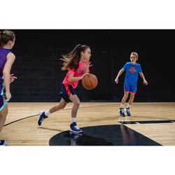 Basketballschuhe Easy SE100 Kinder blau/rosa