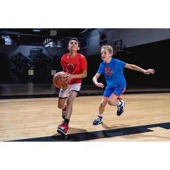Wendeshorts Basketball SH500R Kinder blau/orange/weiß