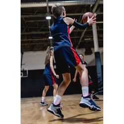 Basketballschuhe SS500 High Kinder blau/grau