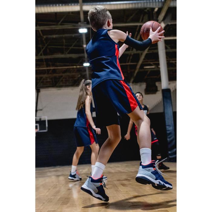 CHAUSSURES DE BASKETBALL POUR GARCON/FILLE CONFIRME(E) NAVY GRIS SS500H