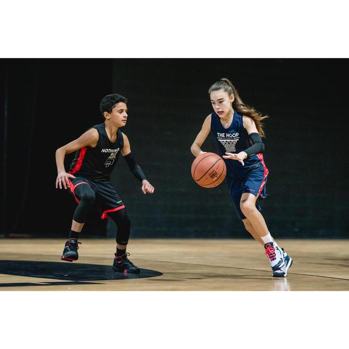 Basketbalschoenen SS500H grijs/marineblauw (kinderen)