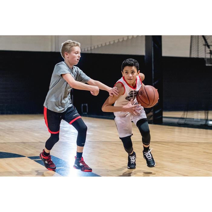 Funktionshose 3/4-Tights Basketball Kinder Fortgeschrittene schwarz