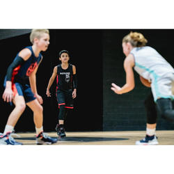 MAILLOT DE BASKETBALL POUR GARCON/FILLE CONFIRME(E) NOIR ROUGE T500
