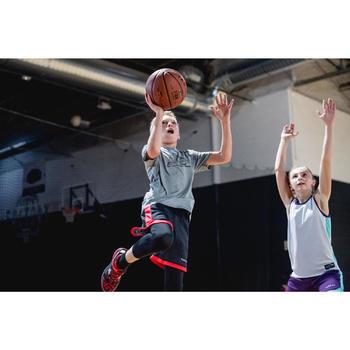 Basketbalshirt voor gevorderde jongens/meisjes grijs schoen TS500