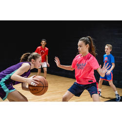Camiseta Baloncesto Tarmak TS500 Niños Manga Corta Rosa