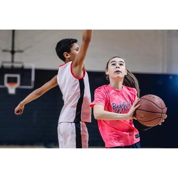 Basketball-T-Shirt 500 Kinder rosa