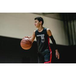 Camiseta Baloncesto Tarmak T500 Niños Sin Mangas Negro Rojo