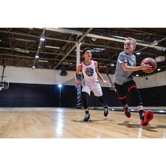 Basketballshirt TS500 Kinder grau mit Print