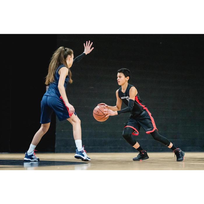 SHORT DE BASKETBALL POUR GARCON/FILLE CONFIRME(E) NOIR ROUGE SH500