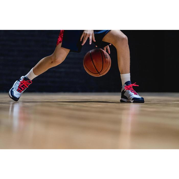 CHAUSSURES DE BASKETBALL POUR GARCON/FILLE CONFIRME(E) BLEU NAVY SS500H
