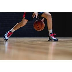 Zapatilla Baloncesto Tarmak SS500H Niños Gris Azul