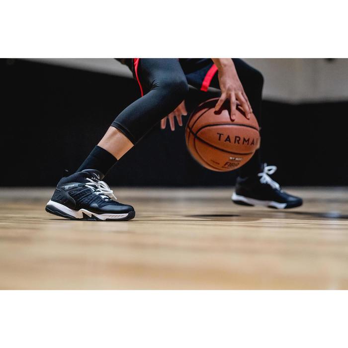 Basketbalschoenen voor halfgevorderde jongens/meisjes zwart zwart SS500H
