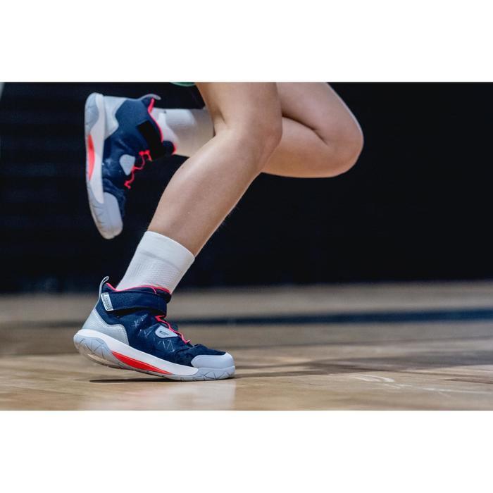 Basketballschuhe Spider Lace 500 Jungen/Mädchen Fortgeschrittene blau/rosa
