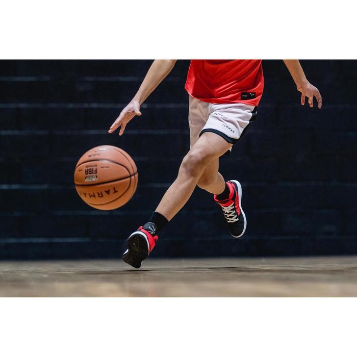 Basketbalschoenen SE100 Easy zwart/rood (kinderen)